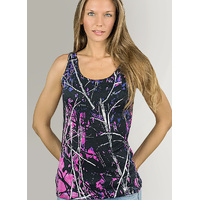 Muddy Girl Pink Camo Singlet Tank Top