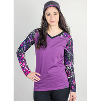 Muddy Girl Camo Purple Long Sleeve Women's Tee