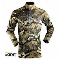 Hunter's Element Prime Summer Zip Long Sleeve Desolve BARE Camo