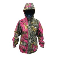 Ridgeline Ladies Mallard Waterproof Hunting Jacket Pink Brown Camo