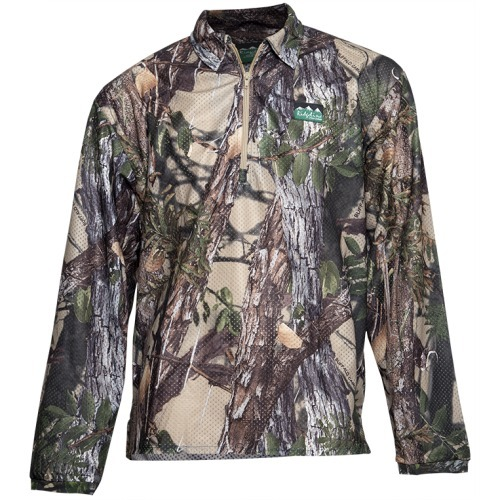 Ridgeline Sable Air Flow Long Sleeve Zip Top Buffalo Camo